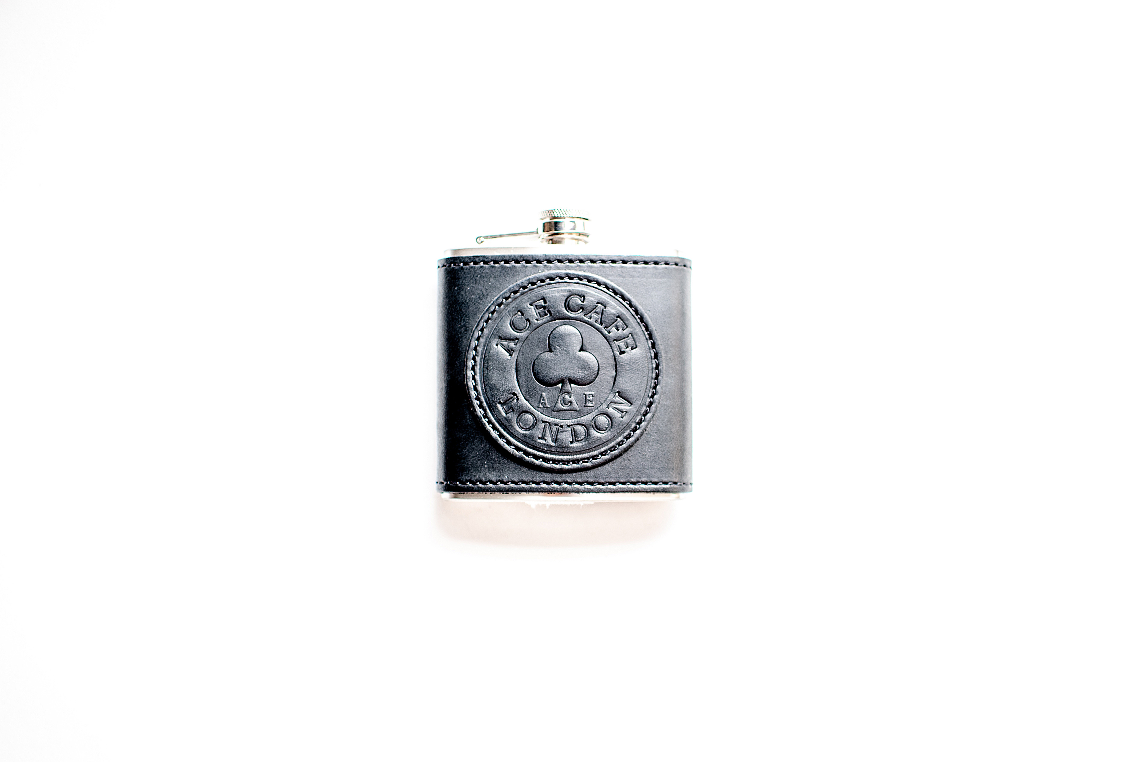 Ace Cafe London leather flask
