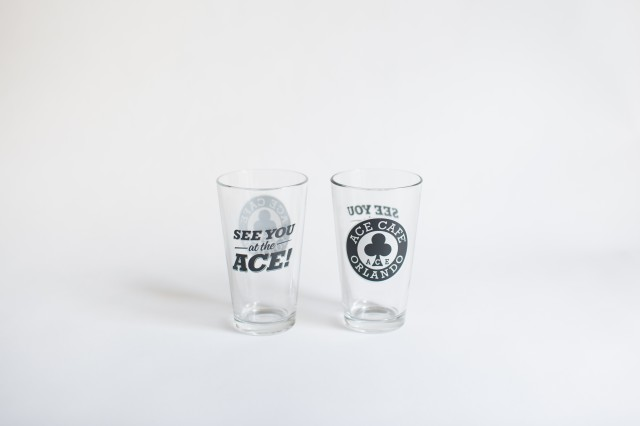 Ace Cafe Orlando Pint Glass