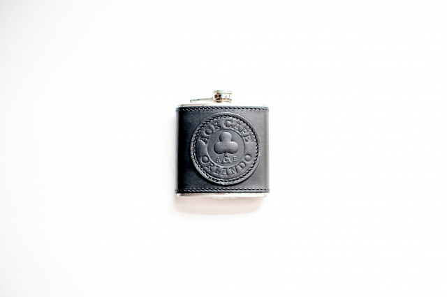Ace Cafe Orlando leather flask