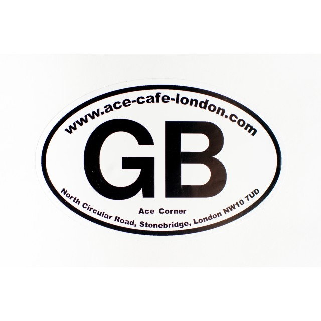 Ace Cafe Small GB Sticker