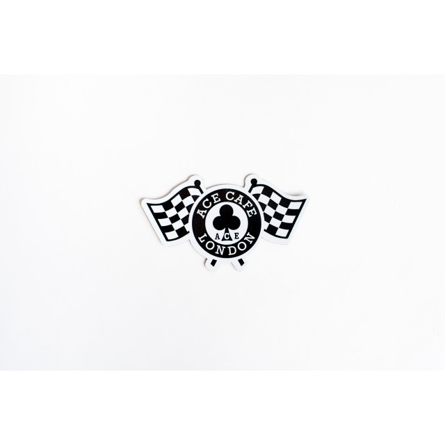 Ace Cafe London Chequered Flag Magnet