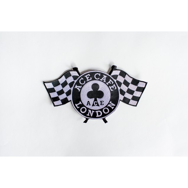 Ace Cafe London Large Chequered Flag Patch