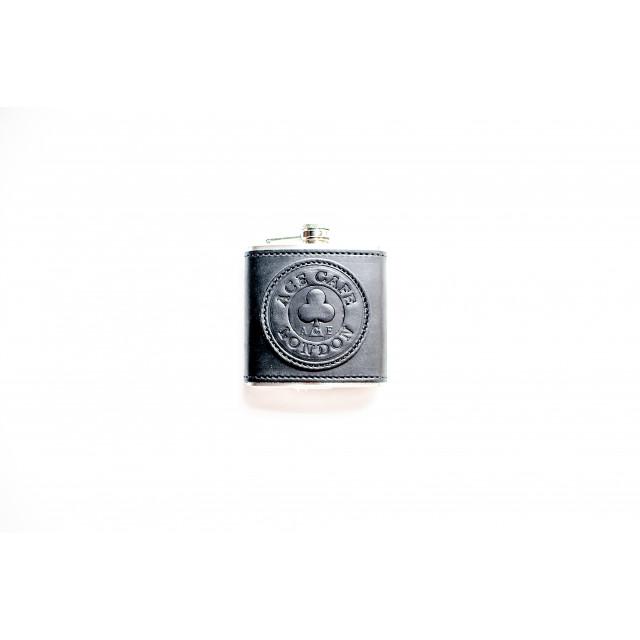 Ace Cafe London leather flask